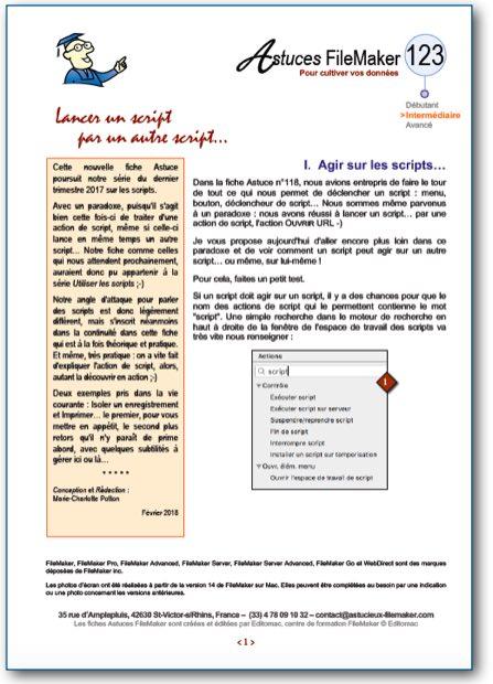 Fiche Astuce FileMaker n°123