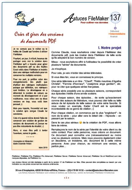 Fiche Astuce FileMaker n°137