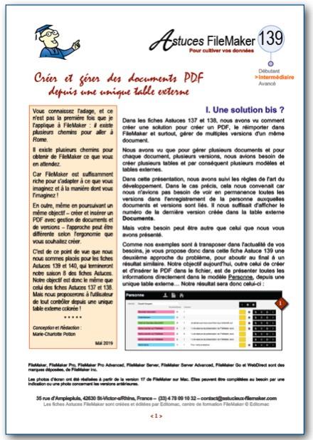 Fiche Astuce FileMaker n°138